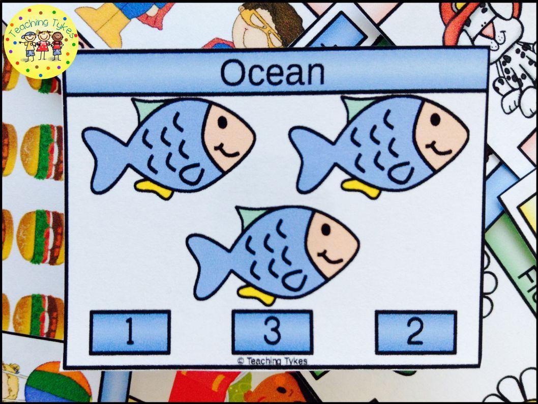 Ocean Activity To Practice Counting Ocean