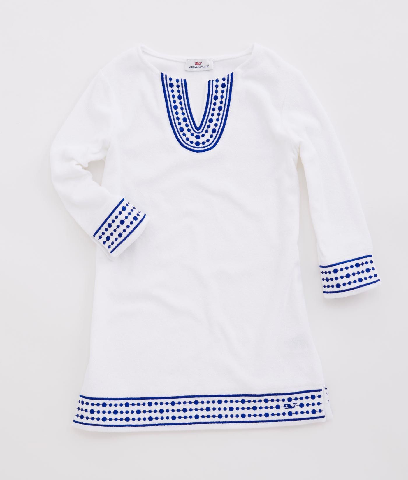 e5a6fd5c92bb1 Girl s Cover-Ups  Girls Embroidered Terry Cloth Cover-Up - Vineyard Vines