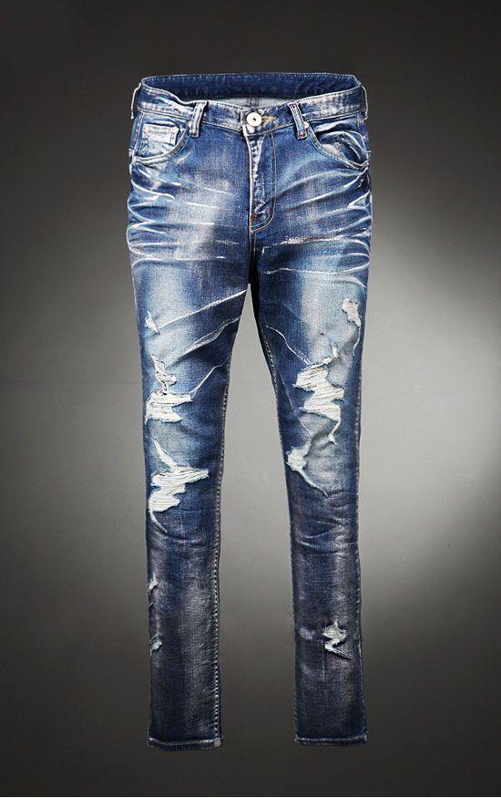 Bottoms :: Art Damage Destroyed Skinny-Jeans 62 - Mens Fashion Clothing For  An - Bottoms :: Art Damage Destroyed Skinny-Jeans 62 - Mens Fashion