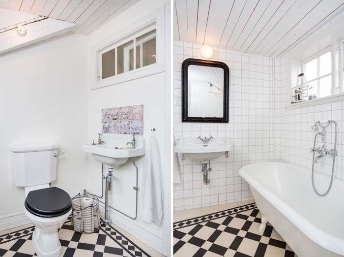Keltainen talo rannalla: Valkoista, romanttista ja vintagea