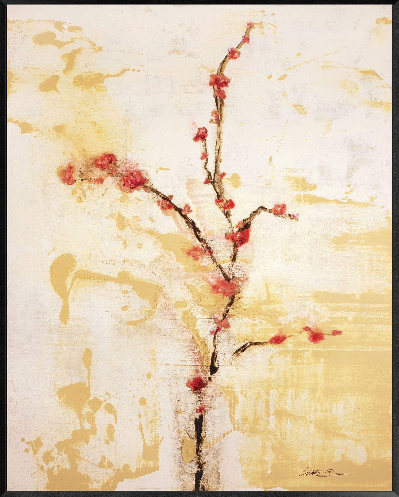 Cherry Blossom Painting Print | Painting prints, Cherry blossoms and ...