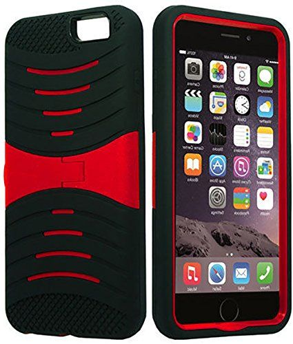 """myLife Shockproof Rubberized Security Armor for iPhone 6 Plus (5.5"""" Inch) by Apple {Bright Red and Black """"Bright Layered Rugged"""" Three Piece TUFF-Fit Full Body Case} myLife Brand Products http://www.amazon.com/dp/B00PBF5VSU/ref=cm_sw_r_pi_dp_v95yub0KWEK6Z"""