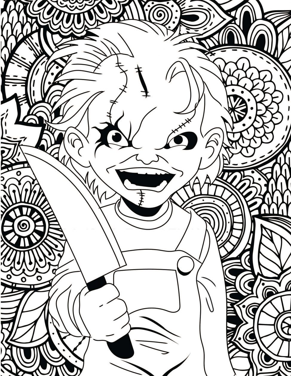 horror coloring pages for adults Image result for little house of horror coloring pages | Witches  horror coloring pages for adults