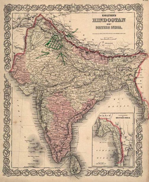 Map Of An Undivided India During British Rule Maps Pinterest