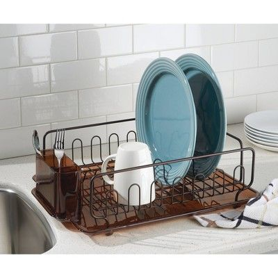 5d14334c2038 InterDesign Forma Lupe Dish Drainer Large Bronze | Products | Dish ...