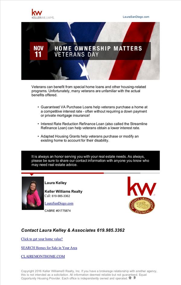 Pin By Laura Kelley Keller Williams On San Diego California Real Estate Home Ownership California Real Estate Veterans Home