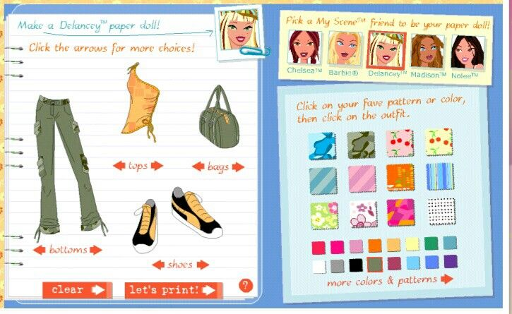 My Scene Fashion Notebook Game Website Computer Games Myscene Com Everythinggirl Com Barbie Games Online My Childhood Memories Kitty Party Games