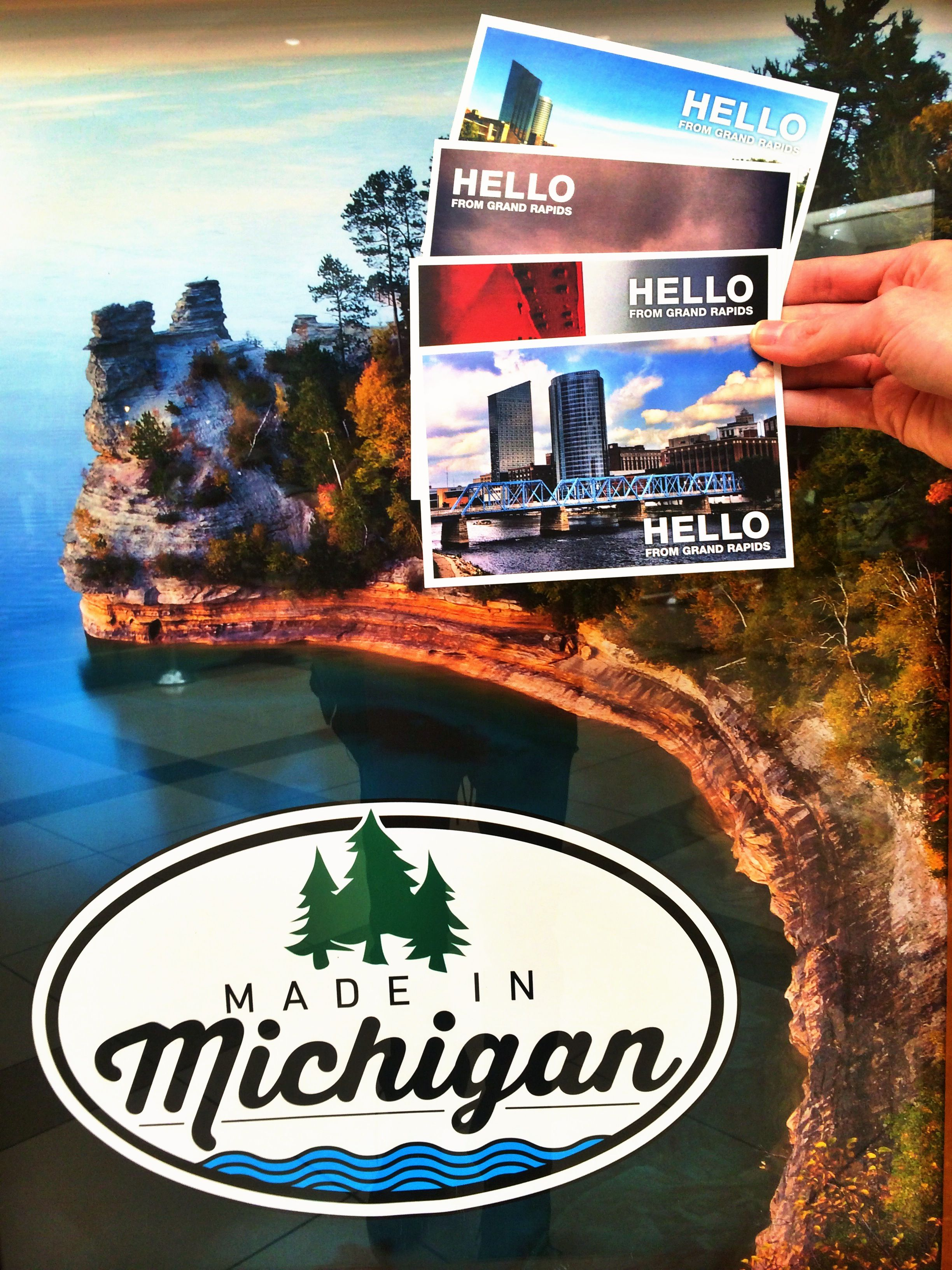 we just restocked the made in michigan store in woodland mall with
