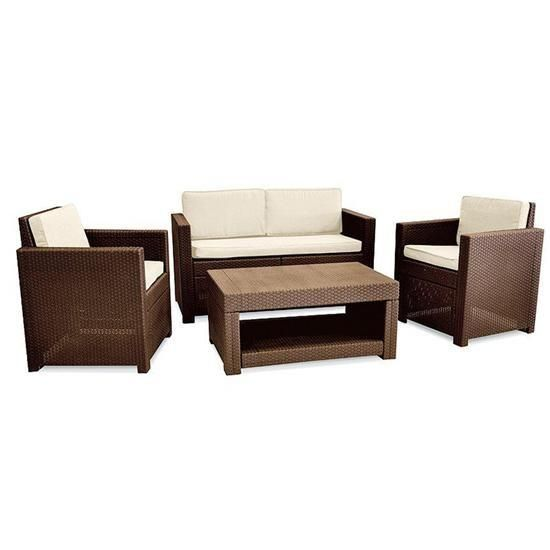 Rattan lounge set  Keter Allibert Monaco Lounge Set £279.95 | Garden Furniture ...
