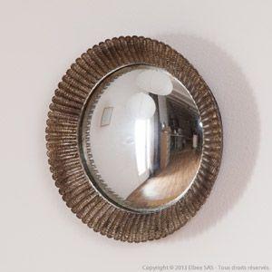 Miroir Rond Convexe Chehoma Bordure Resine Aspect Petales Metal Miroir Rond Miroir Miroir Sorciere