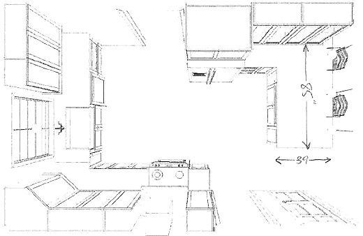 Superieur Kitchen Plan  Peninsula Measurements