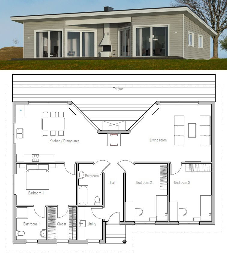 Home Plan Ch61 House Plans Small House Design Architecture House Architecture Design
