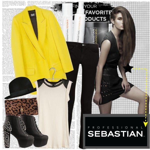 """Sebastian Professional"" by elizabethcarter ❤ liked on Polyvore"