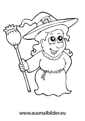 Ausmalbild Halloween Freundliche Hexe Ausmalbilder Ausmalbilder Zum Ausdrucken Kostenlos Ausmalen