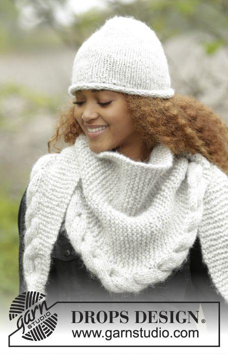 Winter Cozy hat & shawl, free knitting patterns from Garnstudio ...