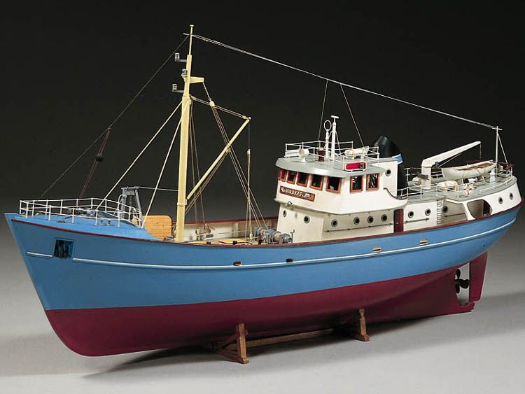 Fishing trawler ships boat models pinterest for Garden design trawler boat