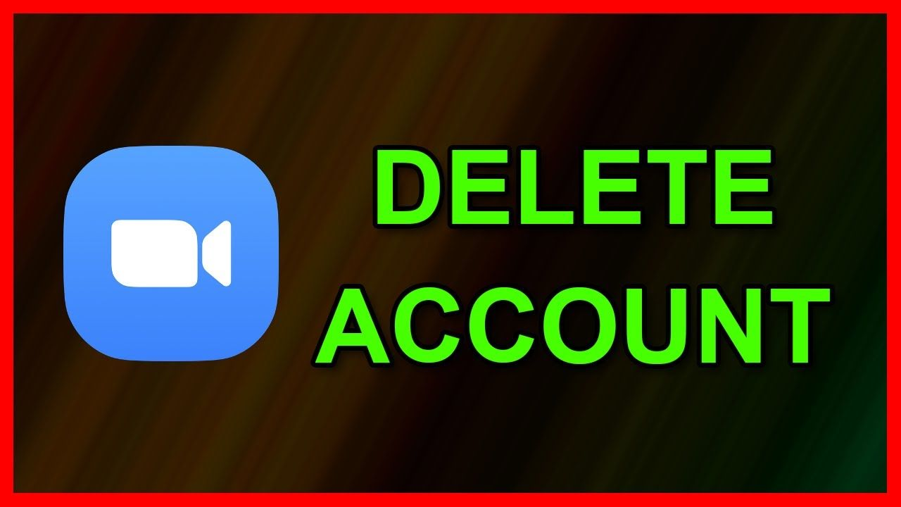 How to delete / terminate your Zoom account Tutorial