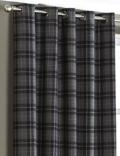 Pin By Mandy On Home Decor Grey Tartan Curtains Curtains Tartan Curtains