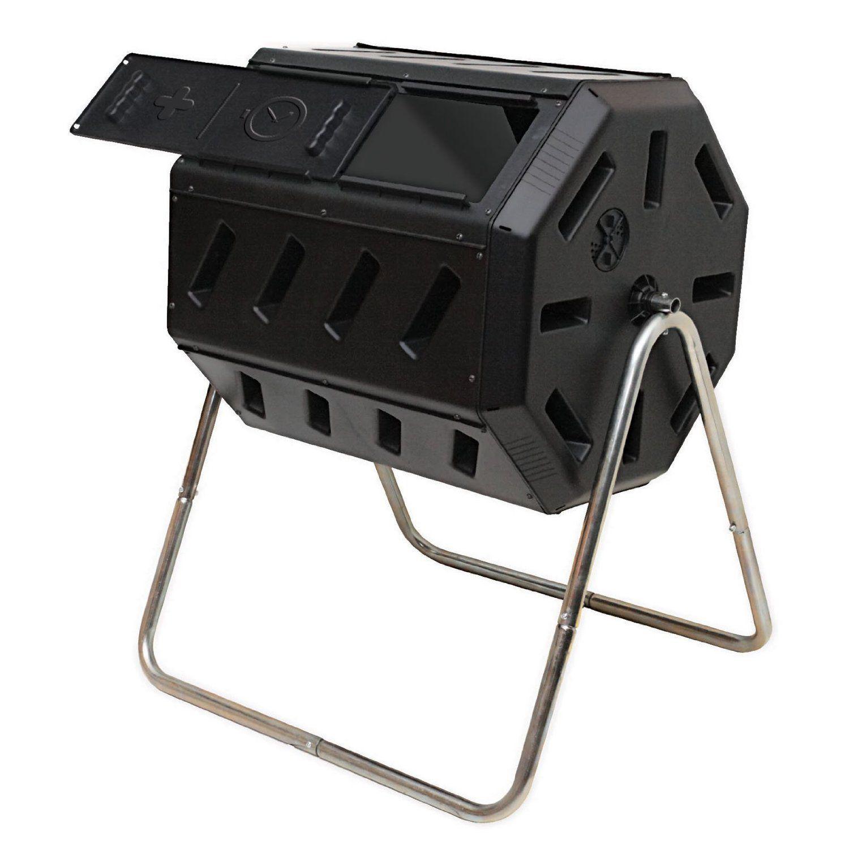 Amazon.com: Yimby Tumbler Composter, Color Black: Patio, Lawn & Garden