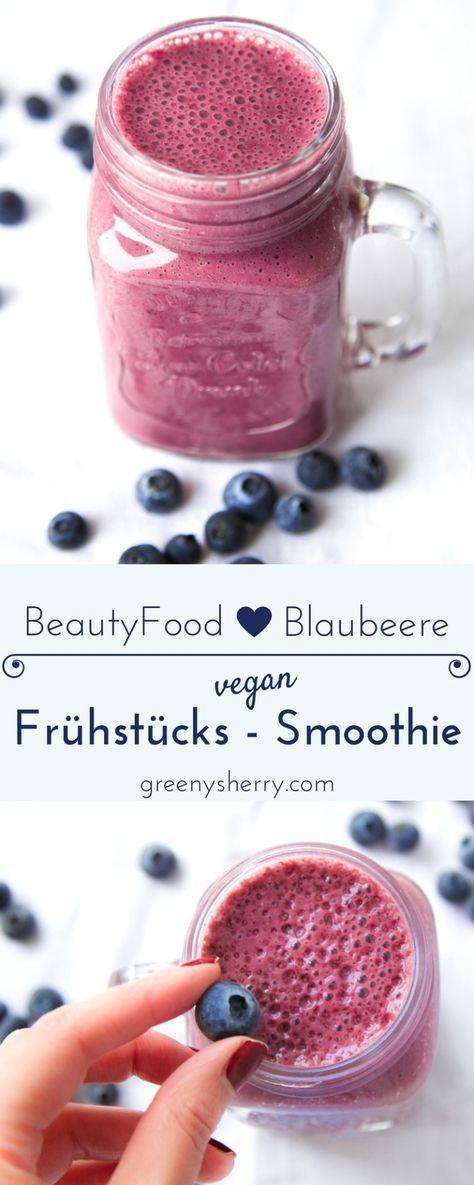 Schneller Frühstücks-Smoothie mit Superfood Blaubeeren - Greeny Sherry - Vegane Rezepte & grün(er)leben | vegan food & life #fruitsmoothie