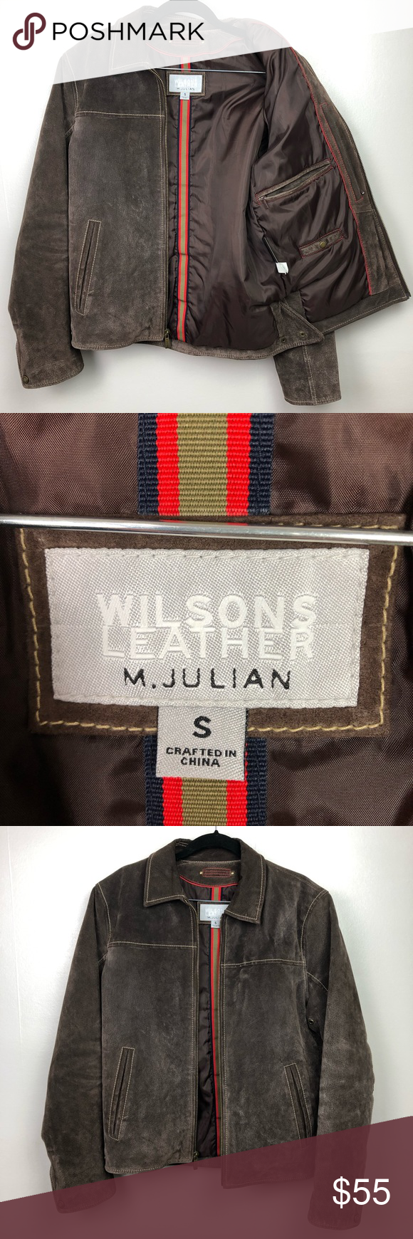 Wilson Genuine Leather Suede Jacket Sz S Suede jacket