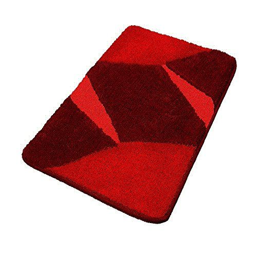 Oversized Red Bathroom Rugs Plush Non Slip Red Rugs 27 6 With Images Red Bathroom Rugs Bathroom Rugs Red Rugs