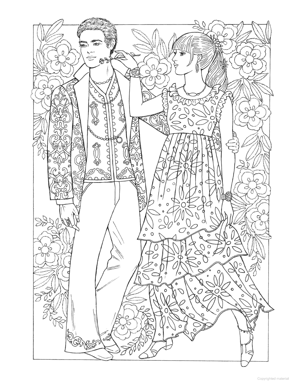 Creative Haven Fabulous Fashions Of The 1960s Coloring Book Coloring Books Coloring Pages Free Coloring Pages