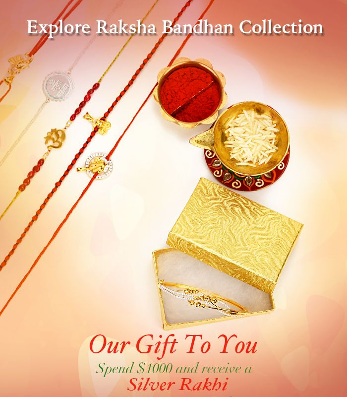 22k Gold & silver Rakhi Gifts Collection