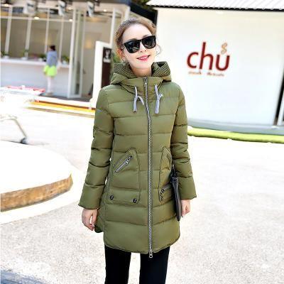 3e81940901e Winter Jacket Women Europe Hooded Slim Medium Long Winter Plus Size Parkas  Top Coat
