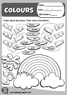 Hello Kids 1 Colours worksheet Ingles para preescolar