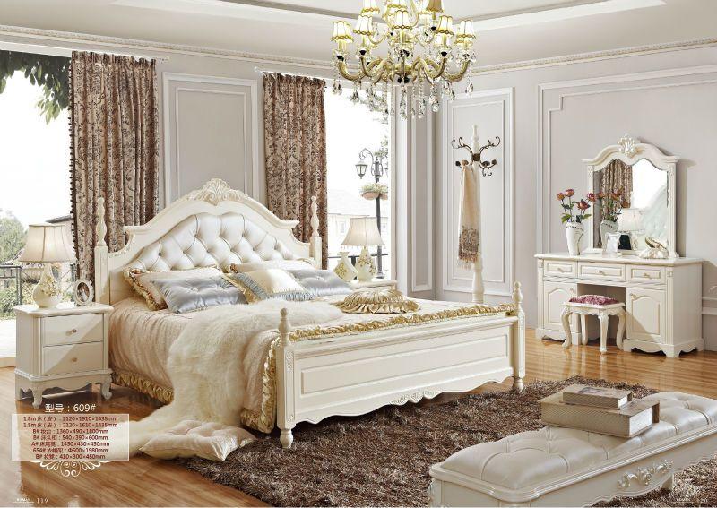 Italia Estilo Europeu Classico Branco E Da Cor Do Ouro King Size Conjunto Mobilia Do Quarto Pesquisa Classic Bedroom Design Bedroom Furniture Sets Furniture
