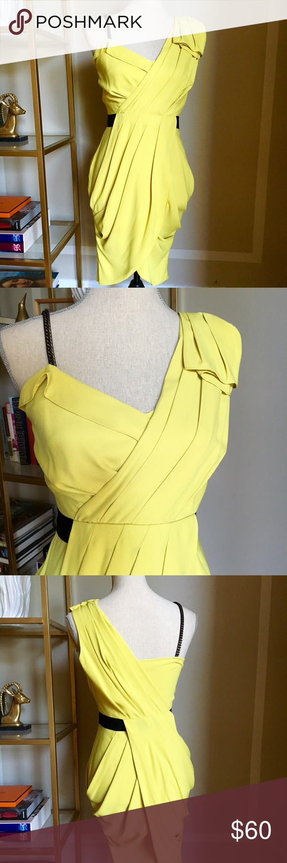 Rachel roy yellow cocktail dress this is the absolute chicest rachel