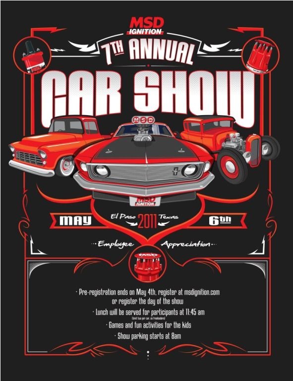 MSD car show flyer Automotive Pinterest Cars and Kustom - car flyer template