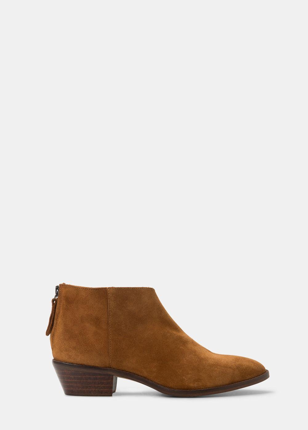 22f47986 Botín plano piel - Tallas grandes | Super shoes | Botines planos ...