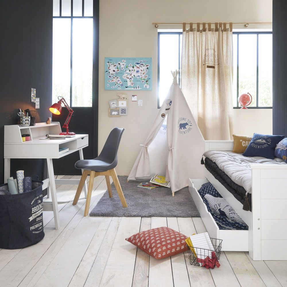 Maisons Du Monde Junior Lit Extensible 90x190 Blanc In 2019 Playroom For The Boys