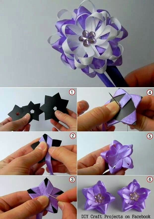 Wonderful DIY Pretty Ribbon Flower Hairband #ribbonflower