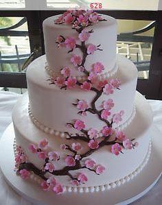 Cherry Blossom Cake Cherry Blossom Wedding Cake Cherry Blossom Cake Cherry Blossom Wedding Theme
