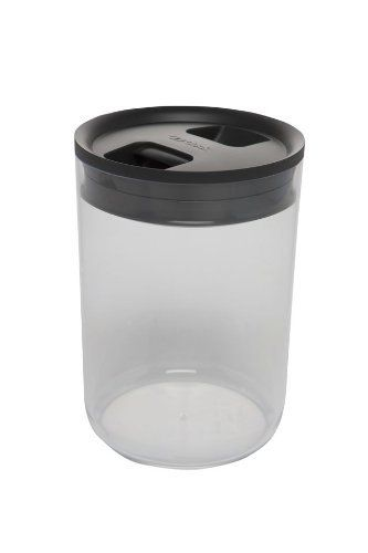 Click Clack Pantry Canister 2 4 Quart Charcoal Lid By Click Clack 11 99 Toggle Lid One Hand Operation Airtight Storage Food Storage Food Storage Shelves