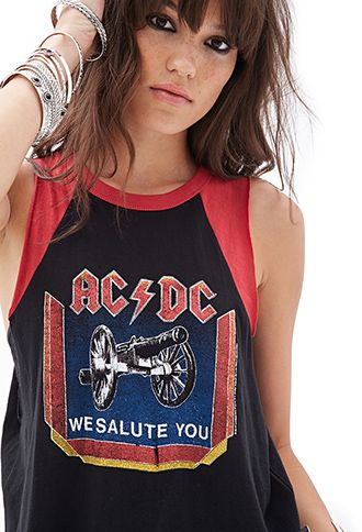 844b8291 AC/DC Muscle Tee | FOREVER21 - 2000101720 | I'd Wear it in 2019 ...