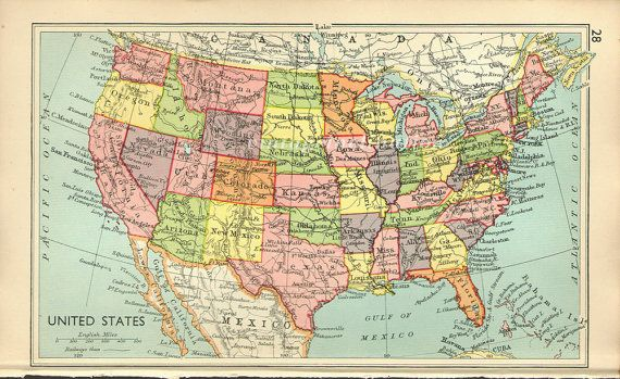 United States Vintage Maps Wiring Free Printable Images World Maps - Usa map vintage