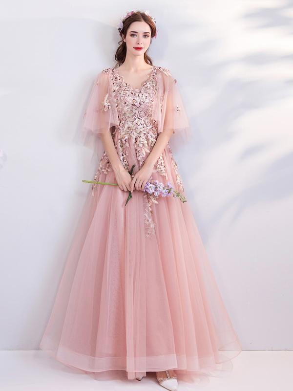 Pink Bride Wedding Dinner Annual Party Dress Skirt 6188t Prom Dresses Short Tulle Evening Dress Evening Dresses
