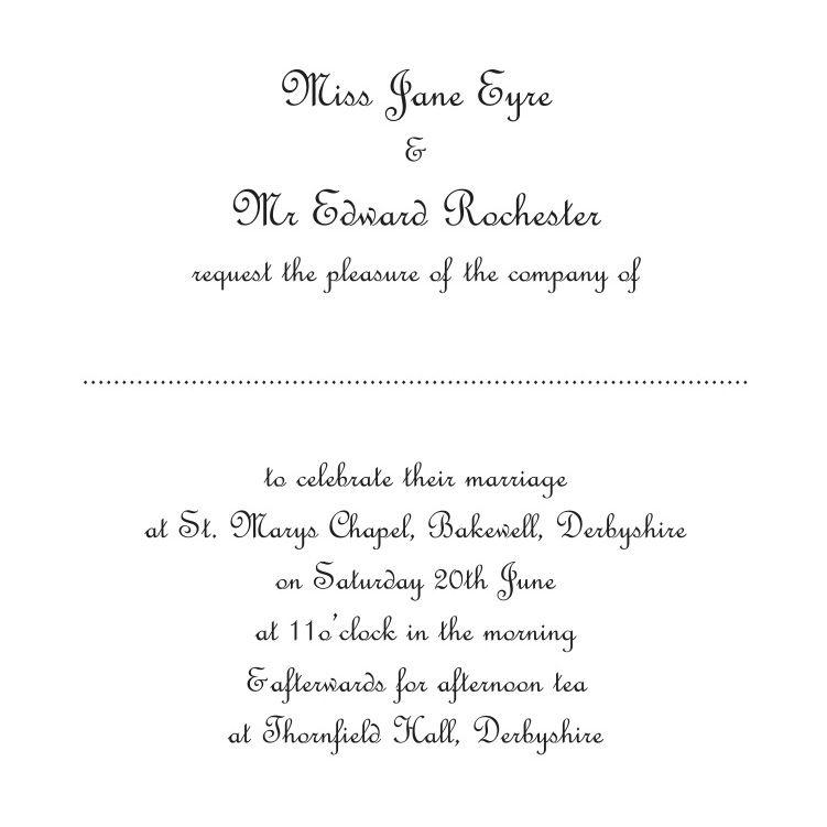 Wedding Invitation From Bride  Brides Invitation Templates