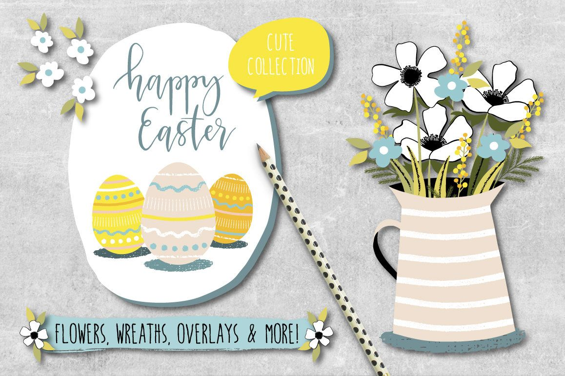 Easter clipart spring flower eggs bunny png card easter clipart spring flower eggs bunny png card negle Images