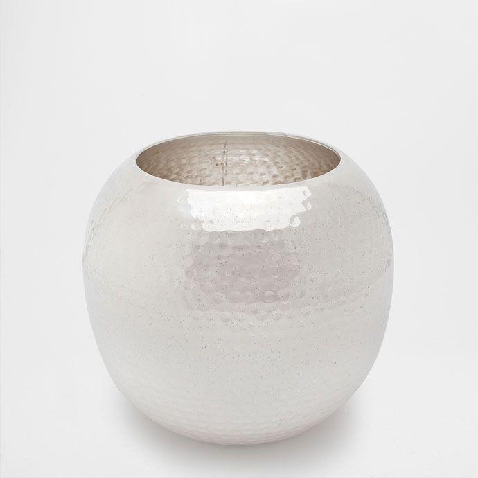 Goldene Vase Aus Gehammertem Metall Vasen Dekoration Zara