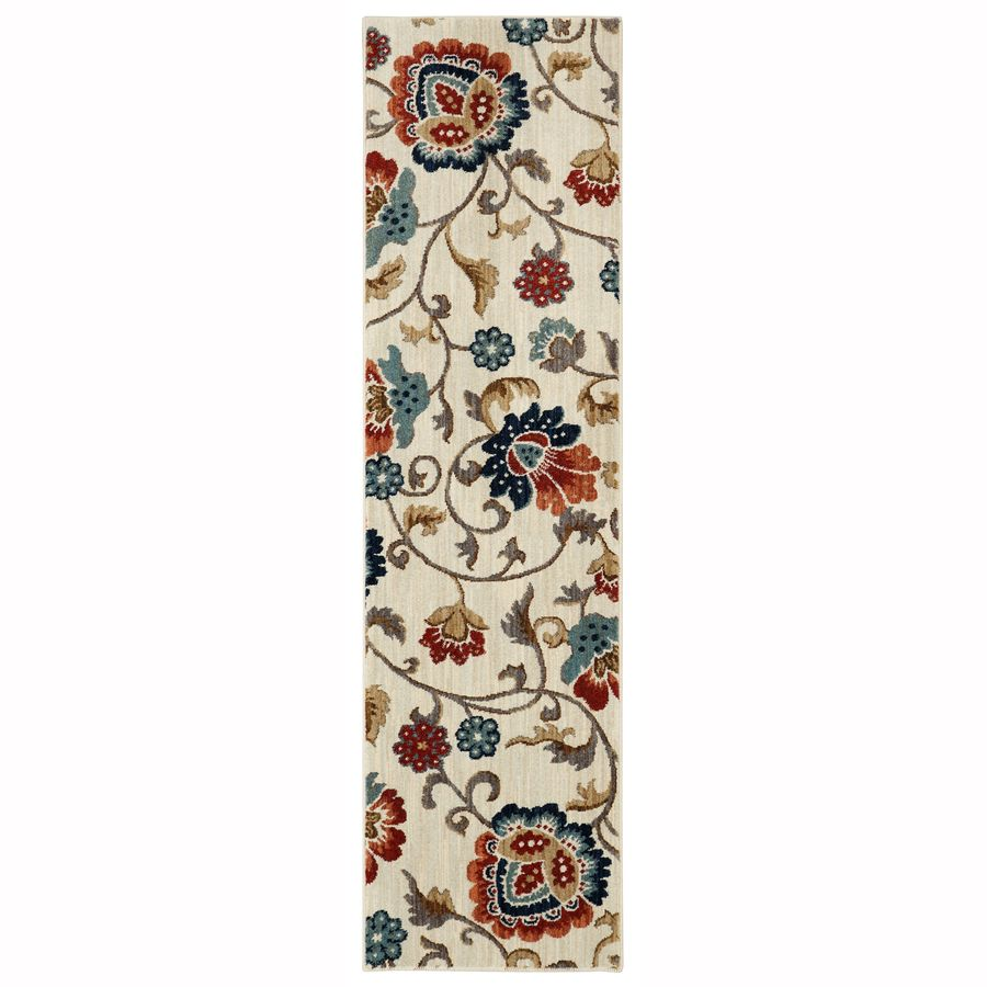 Mohawk Home Graceland 2 X 8 Cream Indoor Floral Botanical Runner Lowes Com Mohawk Home Woven Throw Floral Botanical