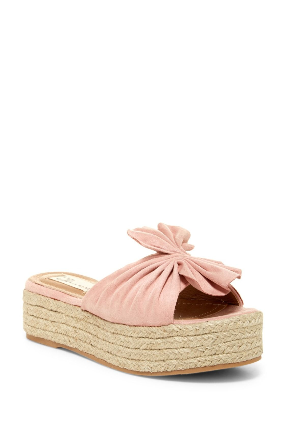 Blush Pink Vintage Havana Mamba Pleated Espadrille Sandals