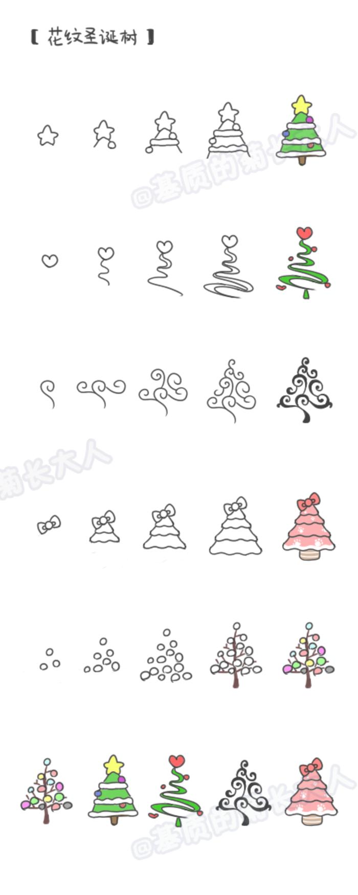 Tannenbaum Diagramm.Weihnachtsbäume Einfach Gezeichnet Tafel Weihnachten Zeichnung