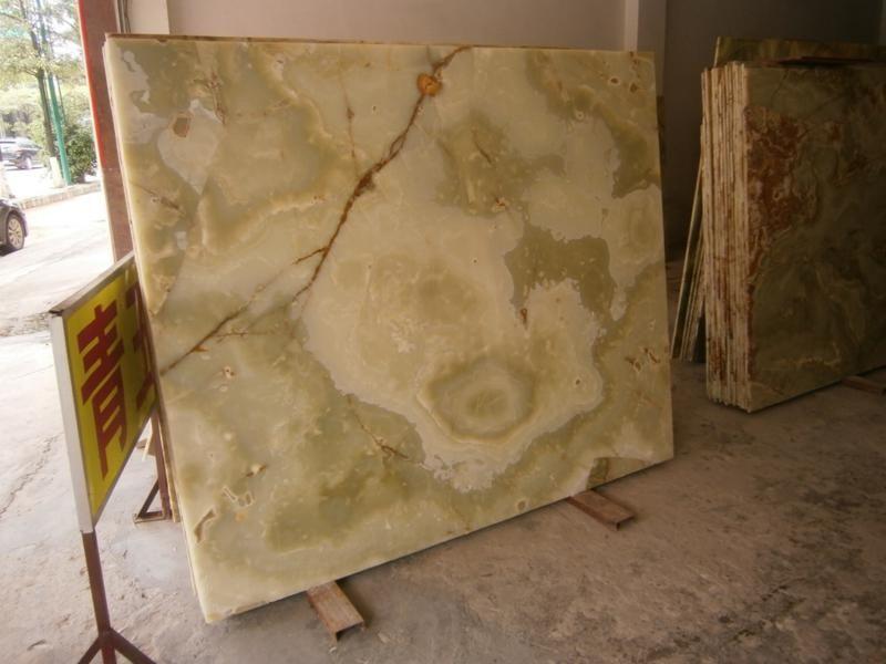 green onyx panel/slab  - transparent stone - very unique  Darsin company info@darsin.eu