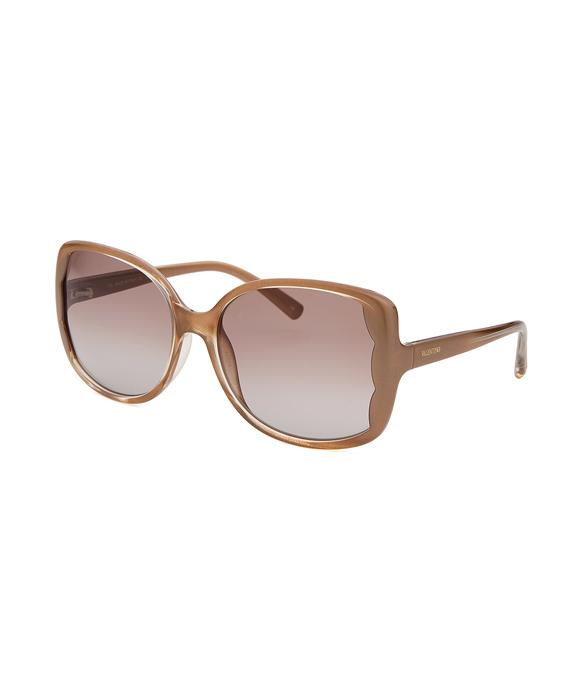 Women's Butterfly Light Brown Sunglasses
