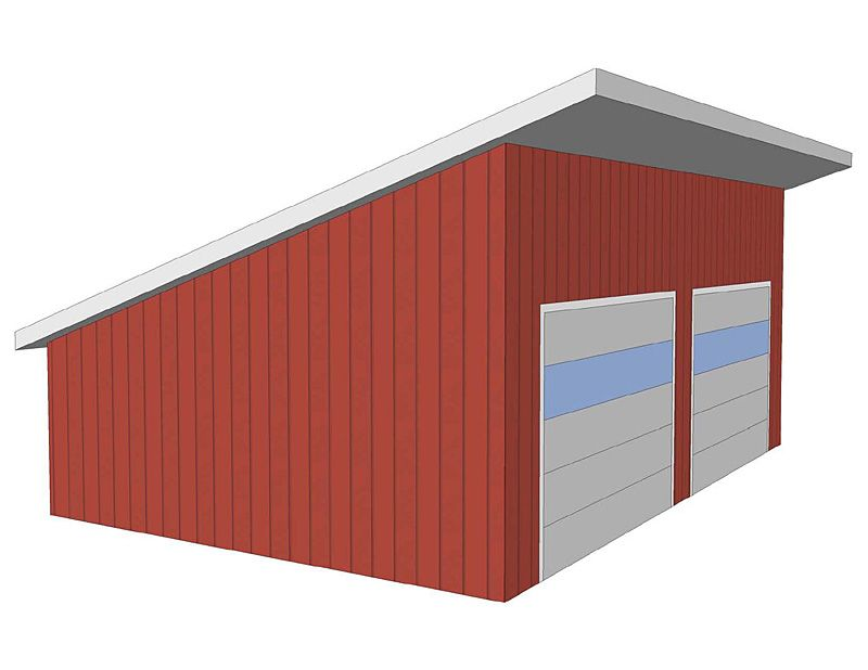 Mono pitched roofs are sometimes called a shed roof lean for Garage roof styles